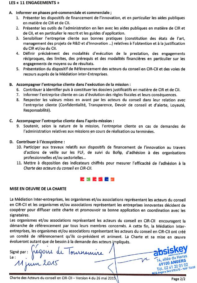 Référencement signé CONSEIL CIR CII SUBVENTIONS EUROPE FINANCEMENT RECHERCHE Innovation