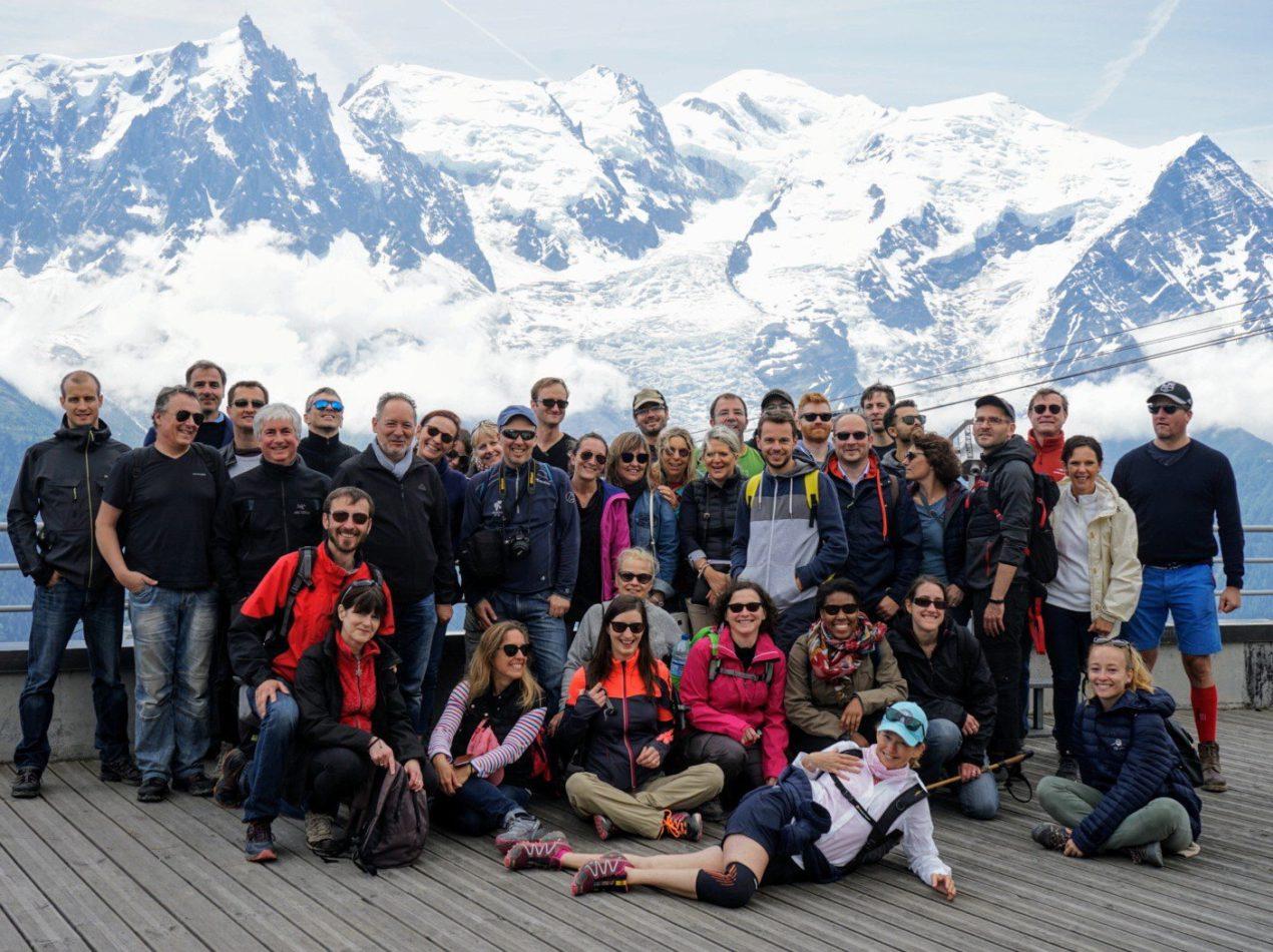 L'équipe d'aide au financement de l'innovation Absiskey en séminaire à Chamonix