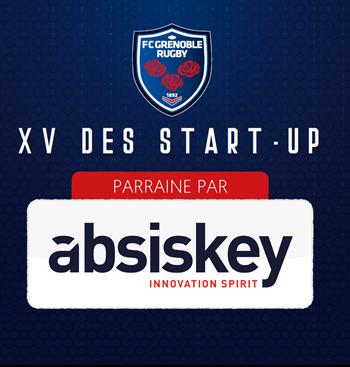 Absiskey, partenaire officiel du XV des start-ups du FC Grenoble Rugby!