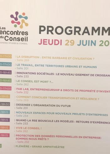 29 juin 2017 – Rencontres du Conseil, à Paris